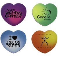 Heart Die Cut Mood Erasers