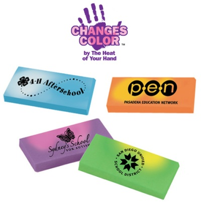 Mood Erasers Change Color with the Heat of Your Hand