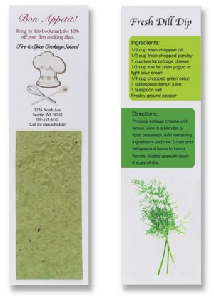 Recipe Bookmarks with Herb Seed Paper Insert