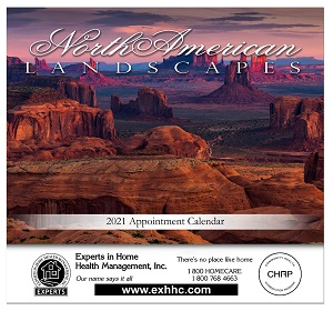 Landscapes of North America 2019 Calendar