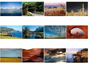 Monthly Scenes of Landscapes of North America 2017 Calendar