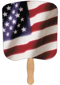 Heavy Duty Hand Fan - Flag Scene