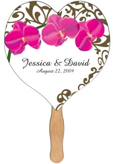 Heart Wedding Hand Fan