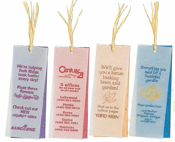 Custom Imprinted Raffia Tie Bookmarks