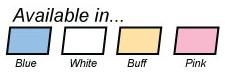 Compressed Sponge Color Options