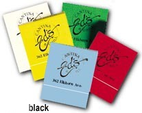 Matchbook Black on Assorted Colors