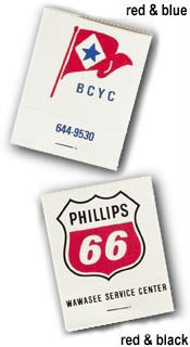 Custom Printed Matchbooks - Personalized 20 Stick Reverse Color Matchbooks