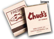 Wholesale Customized Matchbook Brown and Beige