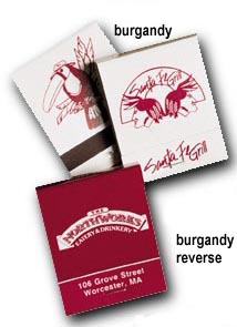 Custom Matchbook Burgundy and White