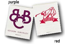 Custom Wholesale Matchbook Purple and Red on White