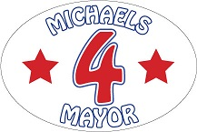 "Sample 6"" x 4"" Oval Political Bumper Sticker with 2-Color Imprint"