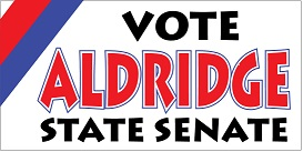 "Sample 7-1/2"" x 3-3/4"" Political Bumper Sticker with 3-Color Imprint"
