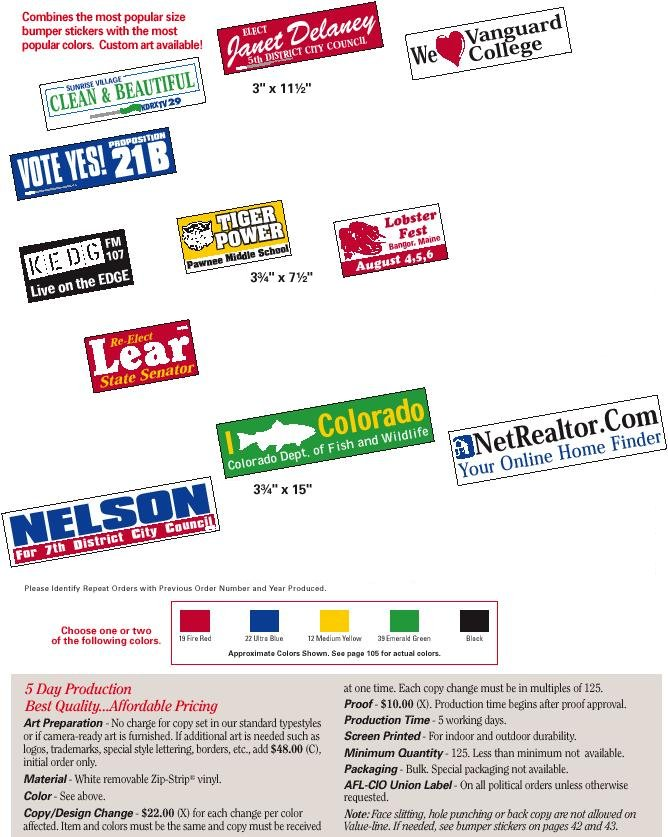 Election Campaign Bumper Stickers - Custom vinyl stickers for walls   for your political campaign