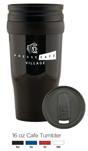 16 oz Insulated Cafe Travel Tumbler