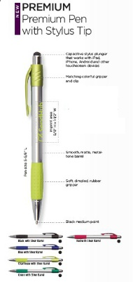 Premium Pen with Stylus