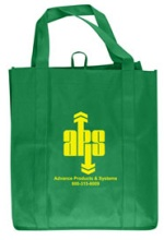 Kelly Green Grocery Tote Bag