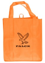 Orange Grocery Tote Bag