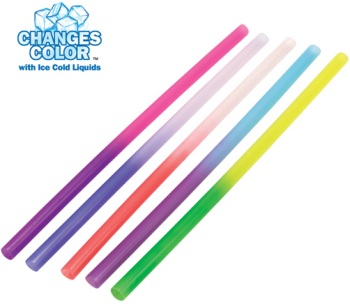 Mood Straws that Change Colors