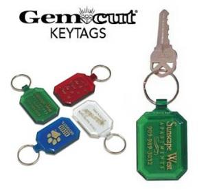 Gem Cut Key Tag