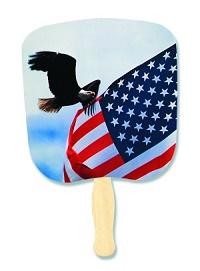 Eagle & Flag Patriotic Hand Fan