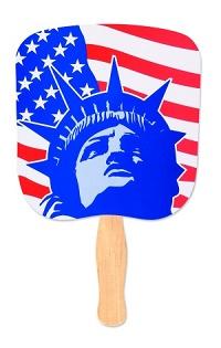 Lady Liberty Patriotic Fan