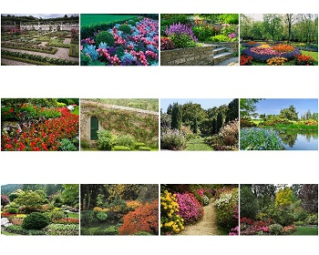 Monthly Scenes of Gardens 2020 Calendar