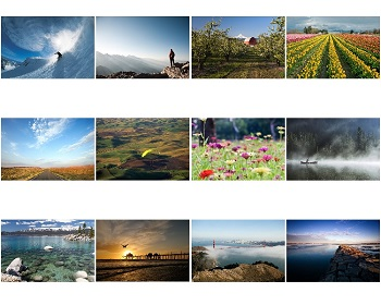 Monthly Scenes of Scenic Inspirational 2020 Calendar