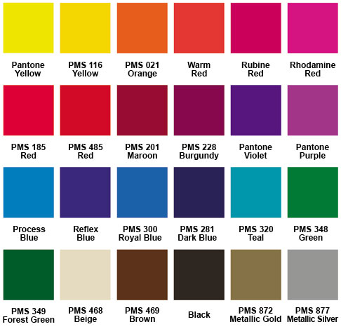 Standard Imprint Colors for Heavy-Duty Fans