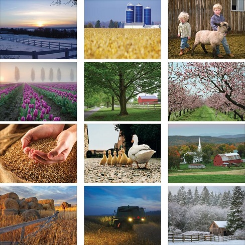American Agriculture 2020 Calendar Monthly Scenes