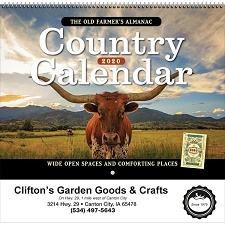 The Old Farmer's Almanac Country 2020 Calendar Cover