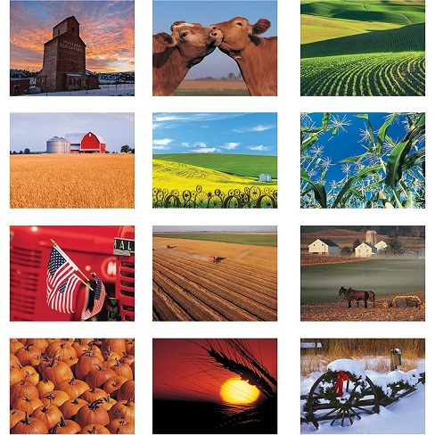 American Agriculture 2021 Calendar Monthly Scenes