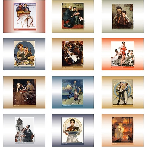 An American Illustrator 2021 Calendar Monthly Scenes
