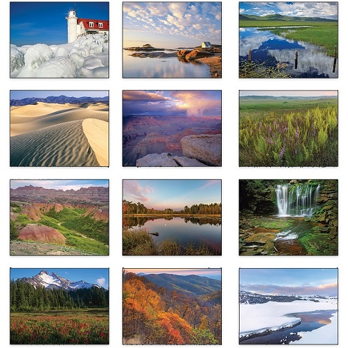 American Scenic 2021 Calendar Monthly Scenes