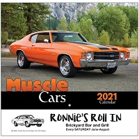 Muscle Cars 2021 Calendar Cover