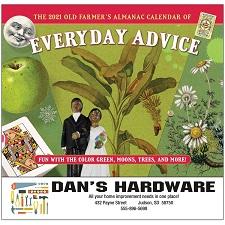 Old Farmers Almanac Everyday Advice 2021 Calendar Cover
