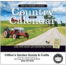 The Old Farmer's Almanac Country 2021 Calendar Cover