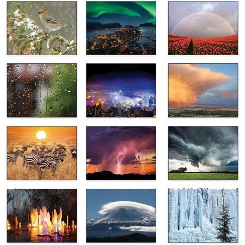 Old Farmers Almanac Weather Watchers 2021 Calendar Monthly Scenes