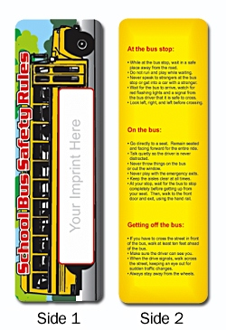 Personalized School Bus Safety Rule Bookmark
