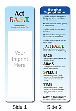 Wholesale Stroke Symptoms Bookmark