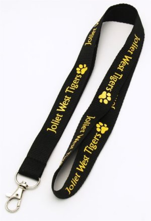 Example of a Flat Polyester Lanyard with Clip Attachment. The Lanyard can be customized and there are several attachments to chose from. Call 706-374-0710 for assistance and a Free Quote.