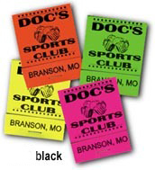Matchbook Black on Assorted Neon Colors