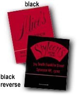 Black Reverse Print Personalized Promotional Matchbooks