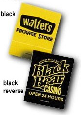 Personalized Yellow Reverse Print Matchbooks Wholesale Prices