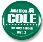 Custom Printed 2 1/4 inch Election Campaign Pins