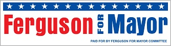 "Sample of 9-1/4"" x 2-1/2"" Political Bumper Sticker with 2-Color Imprint"