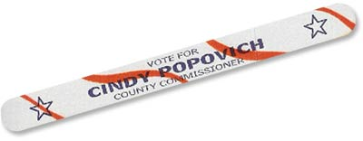 Promotional Patriotic Emery Boards for Political Campaign - Stars and Stripes Design