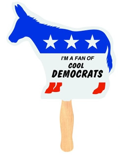 Democrat Donkey Political Fan
