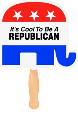 Republican Elephant Political Fan