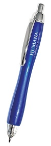 Sample Blue Imprinted Triple Click Lighted Pen