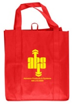 Red Grocery Tote Bag
